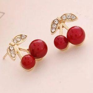 ✨3/$15✨ Bling Cherry Earrings